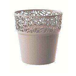 Naturo virágtartó, kávészínű, átmérő: 17,5 cm, 17,5 cm átmérőjű