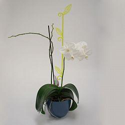 Orchidea pálca, levél, átlátszó zöld, 2 db
