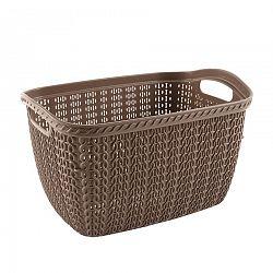 Orion Knit Hobby műanyag kosár tiszta ruhákhoz, 30 l