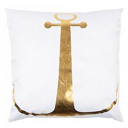 Párna Gold De Lux Vasmacska fehér, 43 x 43 cm
