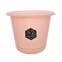Pastels műanyag virágtartó rózsaszínű, 14 cm