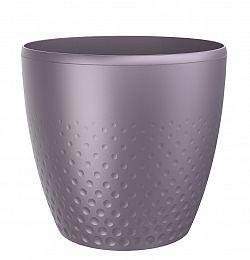Perla műanyag kaspó, 25 cm, lila, 25 cm átmérőjű