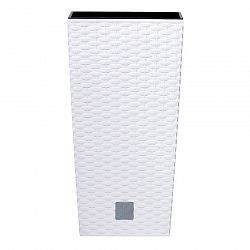 Prosperplast Rato Square virágtartó fehér 20x20x37,6cm