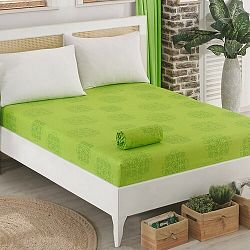 Sedef dzsörzé lepedő, zöld, 90 x 200 cm