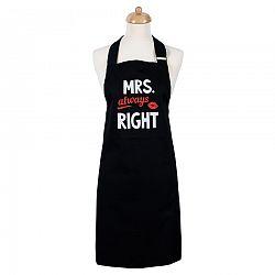 Sikk a konyhában női konyhai kӧtény Mrs. Always right, 70 x 75 cm