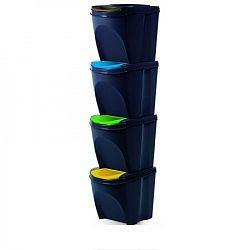 Sortibox Szelektív hulladékgyűjtő kosara 20 l, 4 db, antracit IKWB20S4 S433