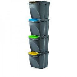 Sortibox Szelektív hulladékgyűjtő kosarak, szürke, 20 l, 4 db IKWB20S4 405U