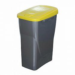 Szelektív hulladékgyűjtő kosár 61,5 x 42 x 25 cm, sárga fedél 40 l