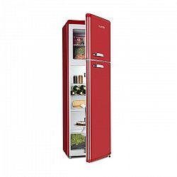 Klarstein Audrey Retro retró kombinált hűtőszekrény fagyasztóval, 194 / 56 liter, A++, piros
