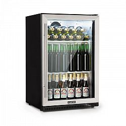 Klarstein Beersafe Pro, hűtőszekrény italokra, 133 l, üvegajtók, 2 csúsztatható polc, fekete