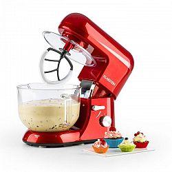 Klarstein Bella Rossa 2G konyhai robotgép, 1200 W, 2,5/5,2 literes üvegtál, piros