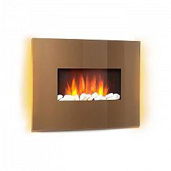 Klarstein Curved Copper L&F, elektromos kandalló, 1000/2000 W, ívelt üvegpanel, távirányító, réz