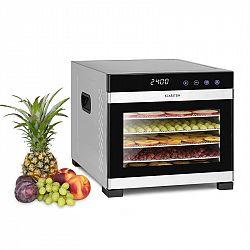 Klarstein Flavour Dry, élelmiszer szárítógép, 35 – 75 °C, LCD érintőképernyős kijelző, időzítő, fekete