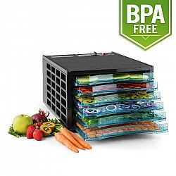 Klarstein Fruit Jerky 6 Basic, szárítógép, dehidrátor, 630 W, 6 emelet