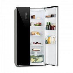 Klarstein Grand Host L, kombinált hűtőszekrény, üvegajtó, fekete