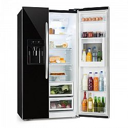 Klarstein Grand Host XXL, hűtőszekrény, 550 liter, jég- és víz adagoló, A+, fekete