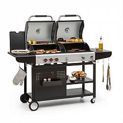 Klarstein Hot & hot, kombi grill, 8,5 kW, 3 gázégő, állítható magasság, fekete