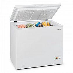 Klarstein Iceblokk 200, fagyasztóláda, fagyasztódoboz, A++, 200 liter, 2 felakasztható kosár, kerekek, fehér