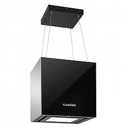 Klarstein Kronleuchter, 600m³/h, fekete, mennyezeti páraelszívó, felakasztható, LED, üveg, tükröződő oldalak
