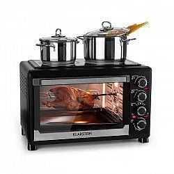 Klarstein Masterchef mini sütő, 60 perces időzítő, 38 liter, infravörös főzőlap, fekete