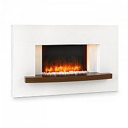 Klarstein Montreux, elektromos kandalló, 1000/2000 W, InstaFire, távirányító, fehér
