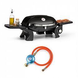 Klarstein Parforce One, gázgrill, 3,5 kW, 12000 BTU, 300 °C, SNJS, gáztömlő, fekete