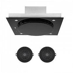 Klarstein Secret Service, páraelszívó, visszaforgató mód, 110 cm, 800 m³/h, aktív szenes szűrő, fekete