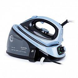 Klarstein Speed Iron V2, gőzölős vasaló, 2100 W, 1100 ml, EasyGlide, fekete/kék