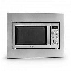 Klarstein Steelwave mikrohullámú sütő 23 l, 800 W, grillező 1000 W, rozsdamentes acél, beépítő keret