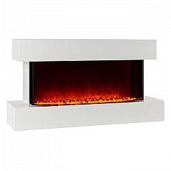 Klarstein Studio-2, fehér, elektromos kandalló, lángok LED-es szimulációja, 1000/2000 W, 40 m²