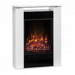 Klarstein Studio 5 elektromos kandalló, fűtőventilátor, 900/1800 W, távirányító, fehér