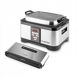 Klarstein Tastemaker + Foodlocker Pro, készlet vákuumos főzéshez (sous-vide), elektromos főzőedény + vákuumozó gép, 550 W/6 l, 0,8 bar