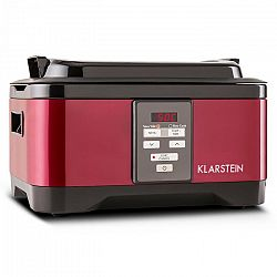 Klarstein Tastemaker Sous-vide Garer lassú főző, 550 W, 6 l, rozsdamentes acél, piros
