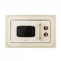 Klarstein Victoria 20, beépíthető mikrohullámú sütő, 20 l, 800 W, grill: 1000 W, elefántcsont