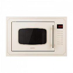 Klarstein Victoria 25, beépíthető mikrohullámú sütő, 25 l, 900 W, grill: 1000 W, elefántcsont
