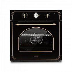 Klarstein Victoria, beépíthető sütő, retró dizájn, 9 funkció, 50 – 250 °C, fekete