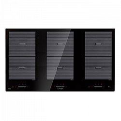 Klarstein Virtuosa Flex 90, indukciós főzőlap, 6 zóna, 10800W, beépíthető, fekete