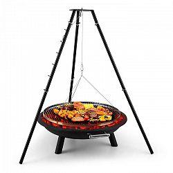 Blumfeldt Arco Trino, forgó grill, tűzrakótál, barbecue, háromlábú állvány, rozsdamentes acél