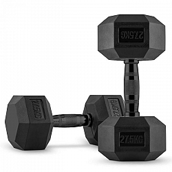 Capital Sports Hexbell, egykezes súlyzó pár, 2 x 27.5 kg, fekete