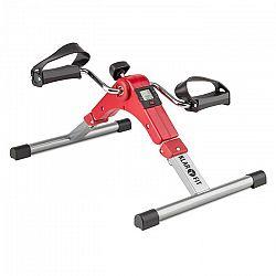 Klarfit Continus Pro Mini Bike, pedálos gép, edzőgép, kijelző, összecsukható, piros