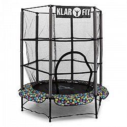Klarfit Rocketkid 5, 140 cm trambulin, biztonsági háló, bungee rugók, virágminta