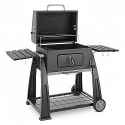 Klarstein Bigfoot faszenes grillező, füstölő, BBQ grill, 55 x 40 cm, acél, fekete