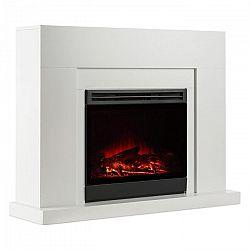 Klarstein Blanca, fehér, elektromos kandalló, lángok LED-es szimulációja, 1000/2000 W, 40 m²