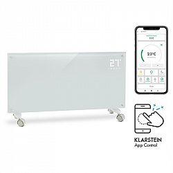 Klarstein Bornholm Smart, konvekciós hősugárzó, 2000 W, WiFi, LED kijelző, IP24, fehér