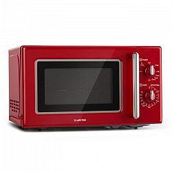 Klarstein Caroline, mikrohullámú sütő, 20 l, 700/1000 W, Ø 25.5 cm, QuickSelect, retró, piros