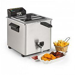 Klarstein Family Fry, fritőz, 3000 W, Oil Drain technológia, rozsdamentes acél, ezüst