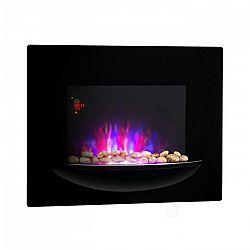 Klarstein Feuerschale, elektromos fali kandalló, 1800 W, valósághű lángok, díszkövek, fekete
