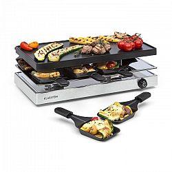 Klarstein Gourmette, raclette grillező, 1200 W, alumínium grill lemez, 8 személy, nemesacél