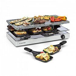 Klarstein Gourmette, raclette grillező, 1200 W, természetes kő grill lemez, 8 személy, nemesacél