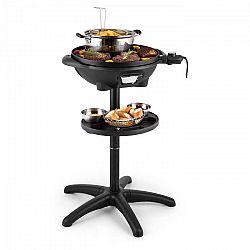 Klarstein Grillpot, 1600 W, 40 cm, elektromos grillsütő, álló grillsütő, asztali grillsütő, öntöttvas